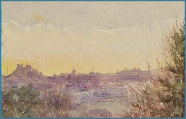 1887 Watercolour of Lewes, by Mary Willis