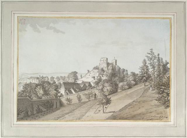 Grimm_Lewes_Castle_from_Shelley's_Garden