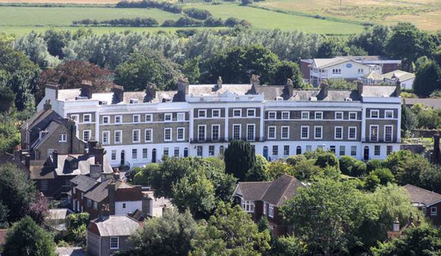 Priory_Crescent_Southover_from_Lewes_Castle