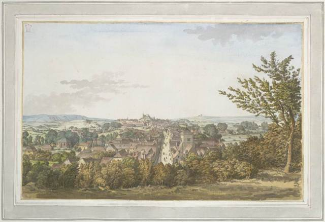 Grimm_1785_watercolour_Lewes_from_Baldys_Garden