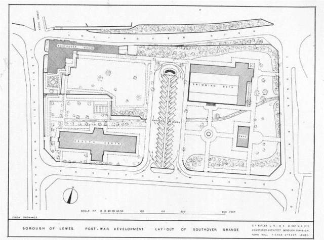 Lewes_Borough_Southover_Grange_development_plan_1944