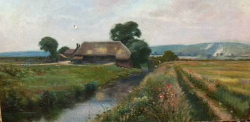 South_Lewes_from_the_River painting