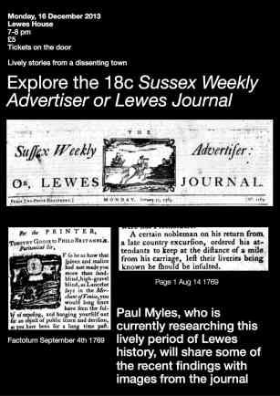 Paul's talk Lewes House
