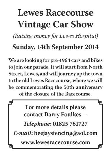 Lewes_Racecourse_vintage_carshow_appeal_poster