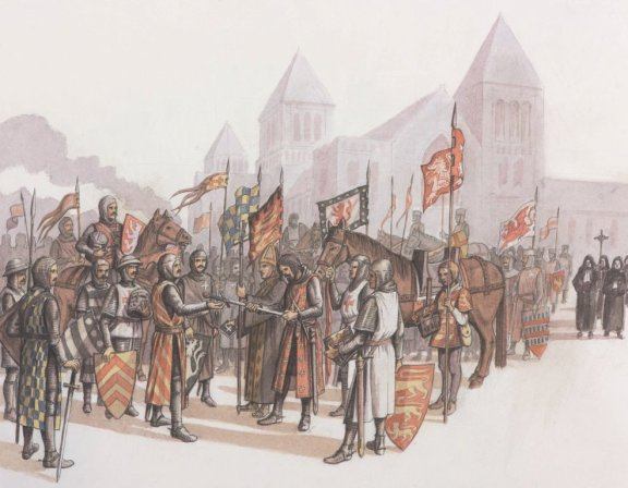 Battle of Lewes Surrender, by Andy Gammon