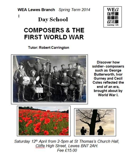 WEA_day_school_Composers_and_the_First_World_War poster