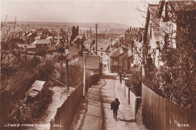 1920s_photograph_Lewes_from_Chapel_Hill