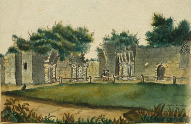 Lewes_Priory_Gate_by_Mantell_1809