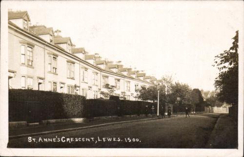 St_Anne's_Crescent_Lewes_Postcard