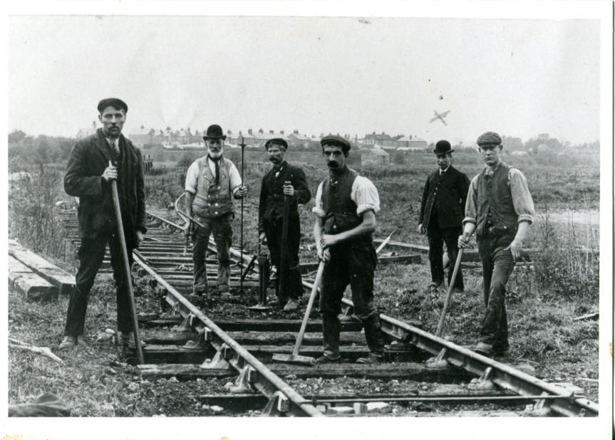 LBSCR plate layers Shoreham 1905