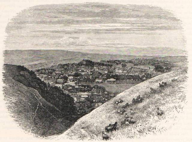 Lewes_from_the_Coombe_