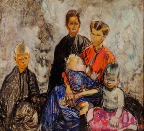 Belgian refugees by Hodgkins
