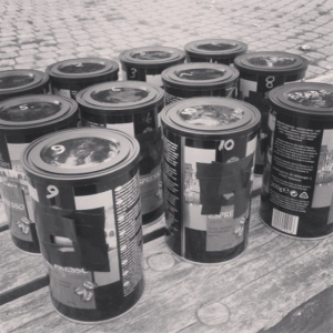 picture of tins for pinhole camera