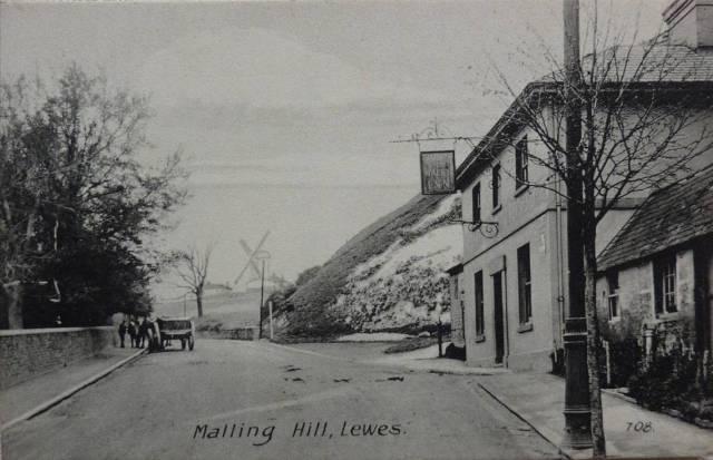 Malling_Hill_Lewes_postcard