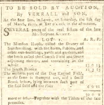 1800 sale Malling Deanery Lot 1