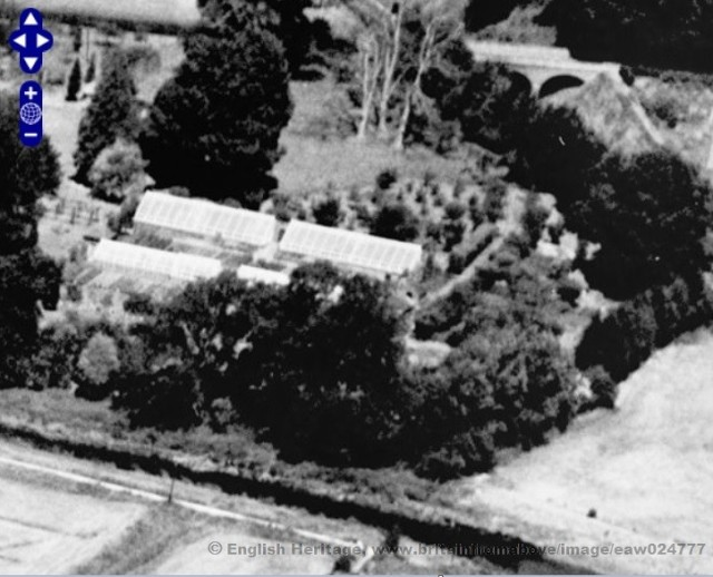 aerial photo Malling Deanery 1949