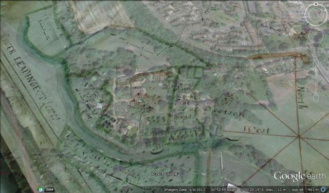 deWard overlay onto Google Earth
