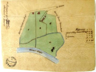 Map Marchant to Campion sale 1824