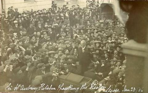 Sir_H_Aubrey_Fletcher_thanking_Lewes_electors_January_1906