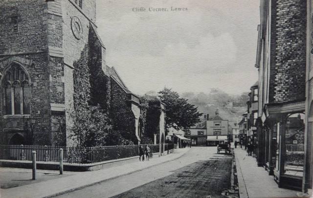 Cliffe High Street Lewes postcard