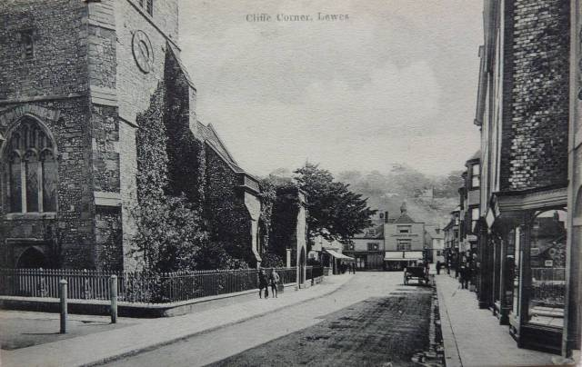 Cliffe High Street Lewes postcard