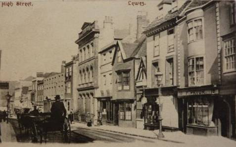 High Street Lewes Addison postcard