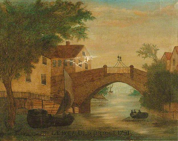 Lewes Old Bridge by Lambert 1781