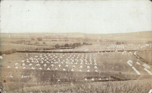 Military_camp_at_Kingston_Lewes_postcard