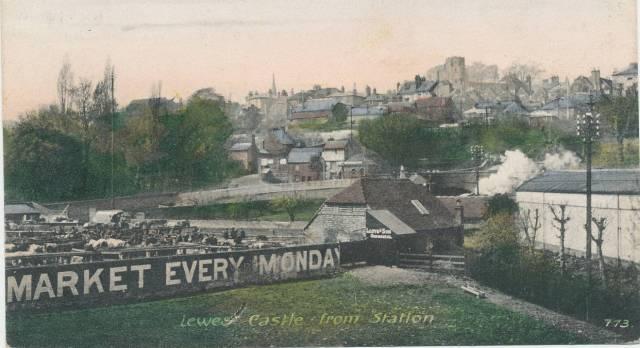 Cattle_Market_Lewes_postcard