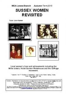 WEA course Sussex Women Revisited