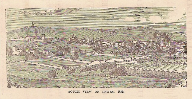 South View of Lewes, from Banks guide to Lewes