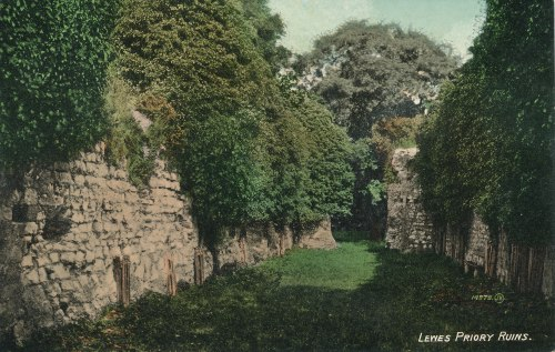 Lewes_Priory_Ruins_postcard
