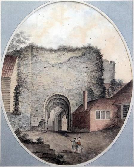Lewes_Castle_Gateway_Lambert_1772