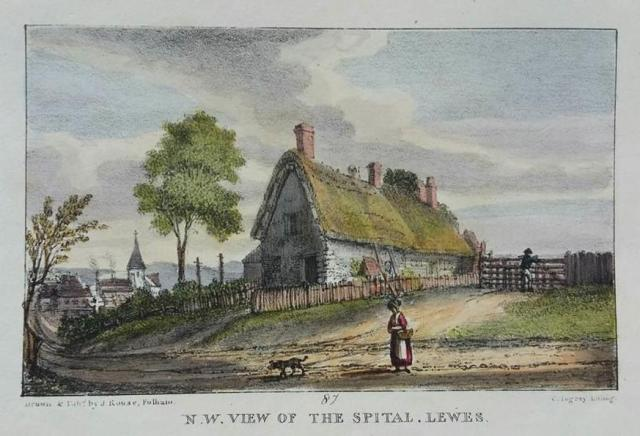 The_Spital_Lewes_Rouse_lithograph