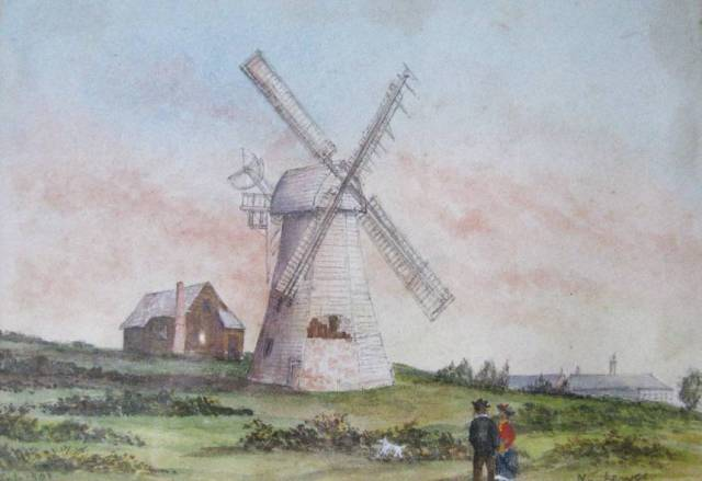 Windmill_on_the_Downs_Lewes_1901