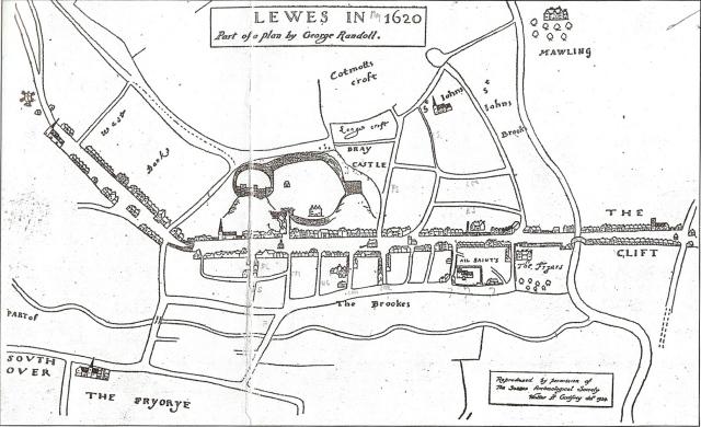 Lewes map Randoll 1620_2