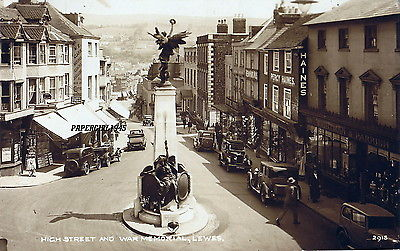 Lewes War Memorial postcard