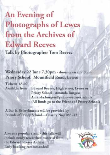 Poster for Reeves talk 22 June 16
