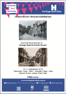 Lewes Street Stories Exhibition poster