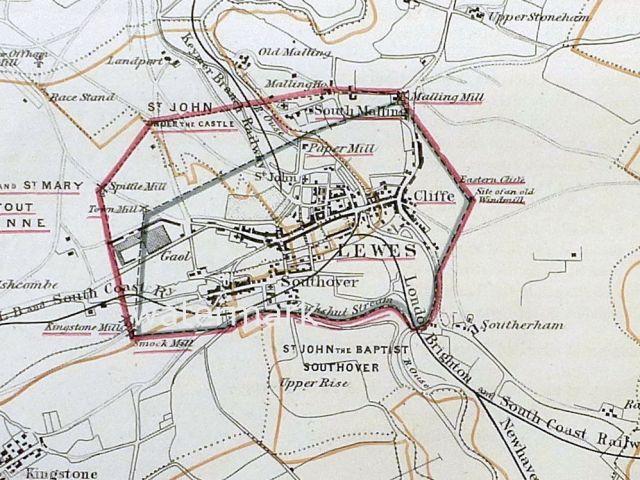 1868-lewes-borough-boundary-map
