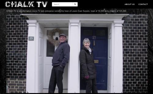 chalk tv shot Sun Street Lewes