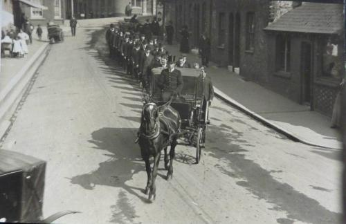 Horse-drawn Funeral Procession, Lewes