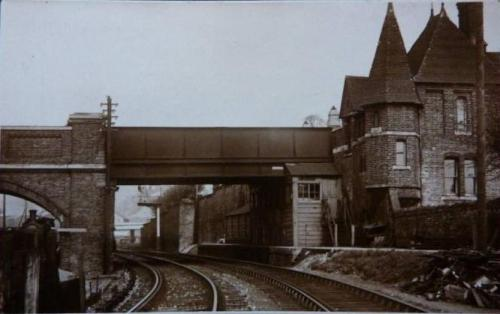 Lewes Friars Walk Railway Bridge Morris postcard 1920s