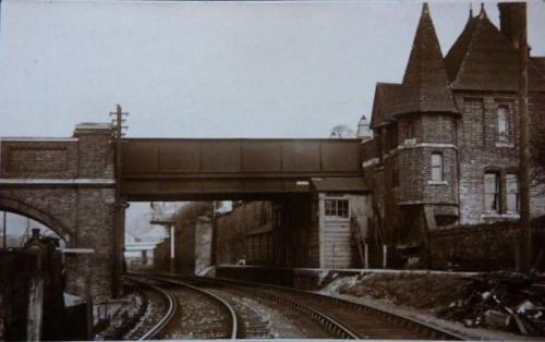 Lewes Friars Walk Railway Bridge Morris postcard 1920s