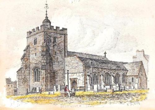 Southover Church, Lewes, Nibbs engraving