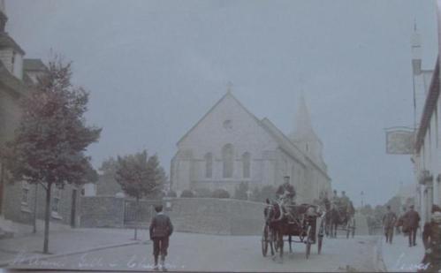 Traffic near St Anne's Church Lewes