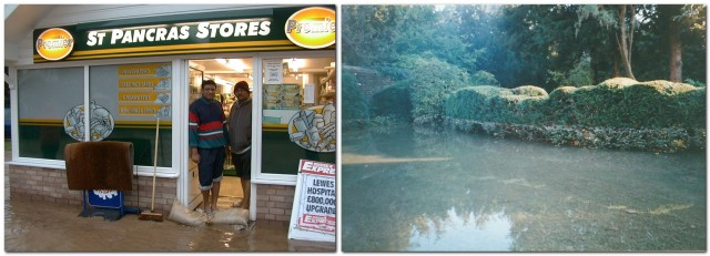 2000 Lewes flood St Pancras Stores Millmore garden strip