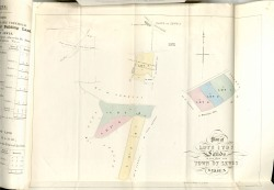Plan from Acland Estate sale 1865