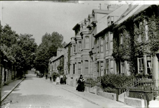 Postcard of Grange Road, Lewes, 1906