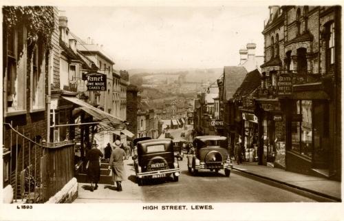 High Steet Lewes postcard